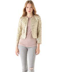 Alice + Olivia Brianna Sequin Box Jacket gold - Lyst