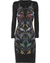 McQ by Alexander McQueen Hummingbirdprint Stretchjersey Mini Dress - Lyst
