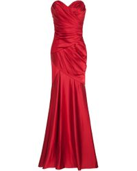Notte by Marchesa Strapless Satin Gown - Lyst