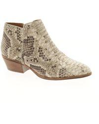 Sam Edelman Petty Python Print Ankle Boots - Lyst