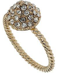 TOPSHOP - Mini Rhinestone Ring - Lyst