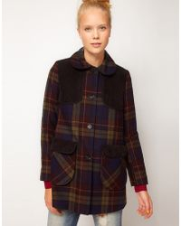 ASOS Collection Asos Check Cord Coat - Lyst