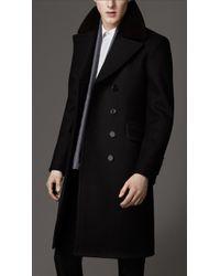 Burberry Virgin Wool Chesterfield Coat - Lyst