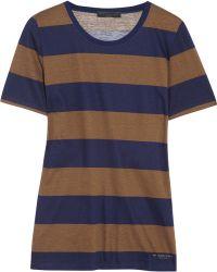 Burberry Prorsum - Striped Cottonjersey Tshirt - Lyst