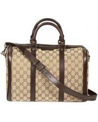 Gucci Vintage Web Gg Large Bowling Bag - Lyst