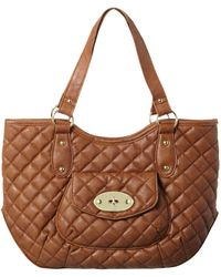 Jane Norman - Tan Quilted Bucket Bag - Lyst