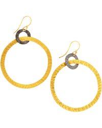 Kevia - Doublehoop Earrings - Lyst