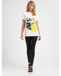 Christopher Kane Paint Spot Floral Tee - Lyst