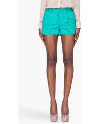 Diane von Furstenberg  Paisley Lace Naple Shorts - Lyst
