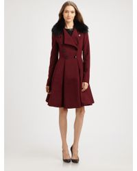 Robert Rodriguez Fit Flare Coat - Lyst