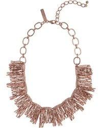 Oscar de la Renta Rose Gold-Plated Necklace - Lyst