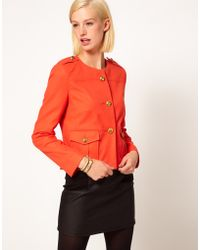 Asos Military Blazer with Gold Buttons - Lyst