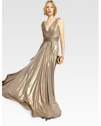 Notte by Marchesa Metallic Gown - Lyst