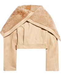 Rick Owens Shearlingcollar Leather Jacket - Lyst
