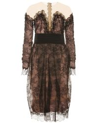 Zuhair Murad  Cocktail Dress with Lace black - Lyst