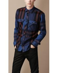 Burberry Brit - Check Utility Shirt - Lyst
