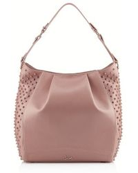 Christian Louboutin Justine Spikes Hobo - Lyst