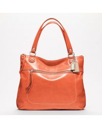 Coach Poppy Leather Glam Tote - Lyst