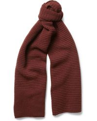 Margaret Howell -  Ribbed Wool Scarf - Lyst