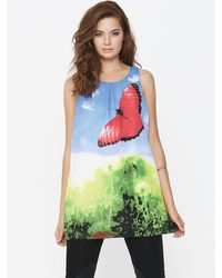 Tfnc Tfnc Printed Butterfly Vest - Lyst