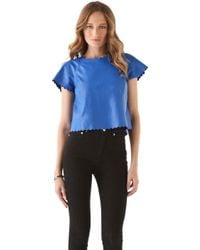 Joy Cioci - Nelly Leather Tshirt - Lyst