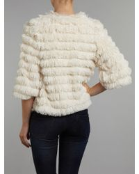Pussycat - Layered Fluffy Jacket - Lyst