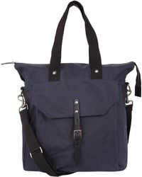 Ally Capellino - Navy Timothy Waxed Cotton Tote Bag - Lyst