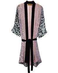 Nicole Miller - Luminous Leopard Robe - Lyst