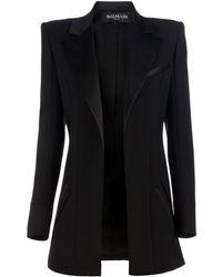Balmain Structured Blazer black - Lyst