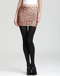 BCBGMAXAZRIA Skirt Paxton Sequin Mini - Lyst