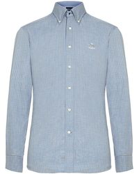Façonnable - Micro Check Shirt - Lyst