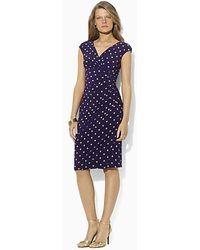 Lauren by Ralph Lauren Dress Gathered Empire Waist Dress - Lyst