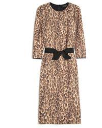 Giambattista Valli Leopard Print Bow Dress - Lyst