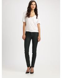 J Brand Leatherette Skinny Jeans - Lyst