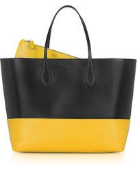 Rochas Twotone Leather Tote - Lyst