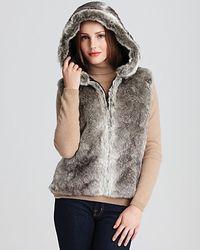 Surell - Faux Fur Hooded Vest - Lyst
