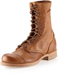 Vintage Shoe Company - Nathaniel Laceup Boot Tobacco - Lyst