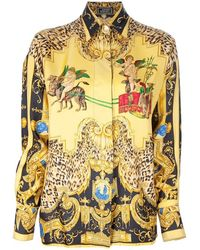 Gianni Versace Vintage Loose Fitting Shirt yellow - Lyst