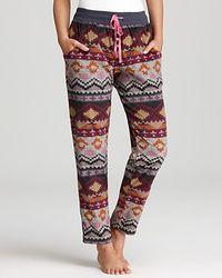 Kensie Microfleece Long Pants - Lyst