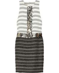 By Malene Birger Rasminel Embellished Striped Tweed Dress - Lyst