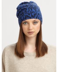 Marc By Marc Jacobs Woolblend Animal Print Hat - Lyst