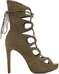 Reiss Crystal Detail Boots green - Lyst