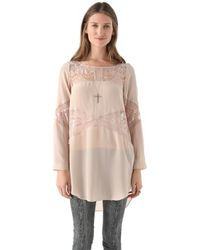 Shakuhachi - Lace Panel Tunic - Lyst