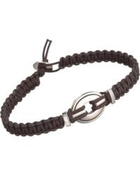 Catherine Zadeh - Macrame Cord Bracelet with Silver Oval Bead - Lyst