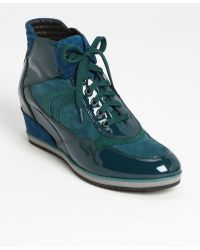 Geox D Illusion High Top Wedge Sneaker - Lyst
