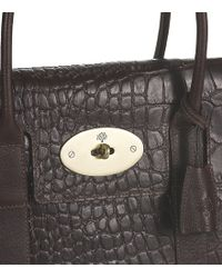 ebfb1d5bdb ... reduced mulberry chocolate printed leather bayswater bag lyst 401ba  c33f6