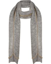 TOPSHOP - Chunky Chain Scarf - Lyst