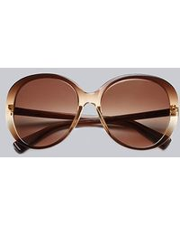 7 For All Mankind - Magnolia Sunglasses Brown - Lyst