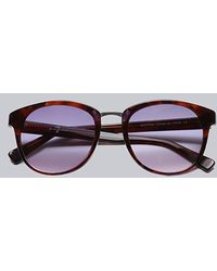7 For All Mankind - Monterey Sunglasses Tortoise Purple - Lyst