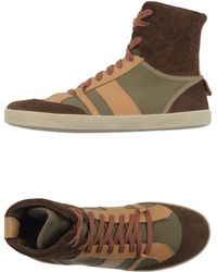 Chloé Hightop Trainers brown - Lyst